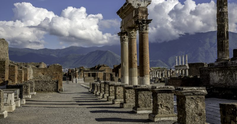 The city of Pompeii was an ancient Roman town-city near modern Naples in the Italian region of Campania, in the territory of the comune of Pompei.